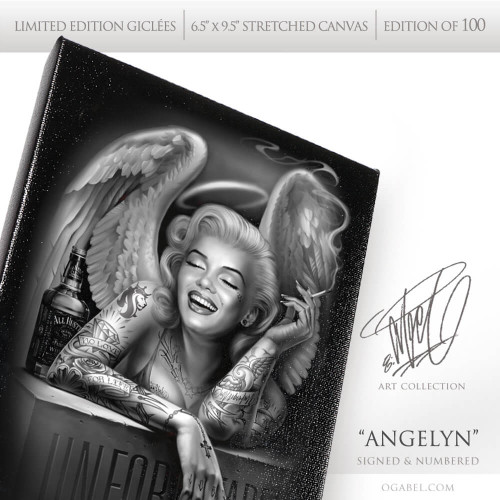 "Angelyn 6.5""x 9.5"" Limited Edition Canvas"