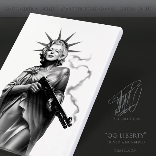 "OG Liberty 6.5""x 9.5"" Limited Edition Canvas"