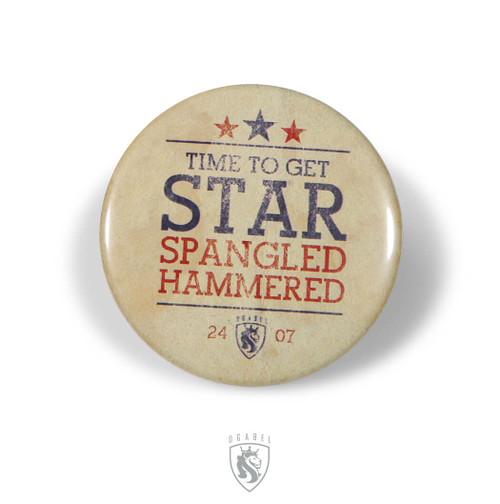 OG Button - Spangled Hammered