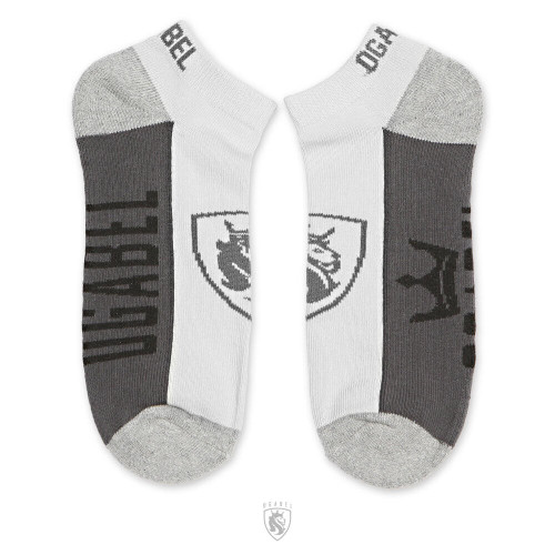 Grey Ankle Socks with Lion Shield