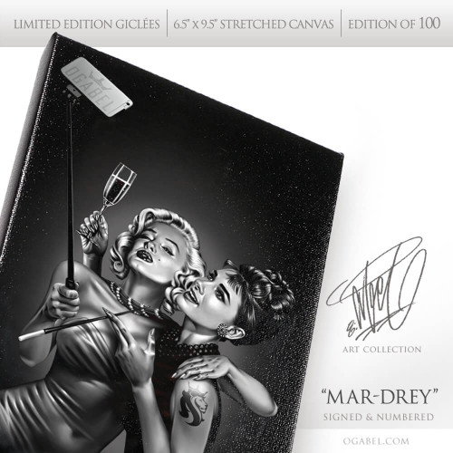 "Mar-Drey 6.5""x 9.5"" Limited Edition Canvas (Black)"