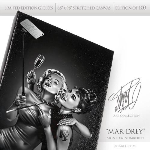 """Mar-Drey 6.5""""x 9.5"""" Limited Edition Canvas (Black)"""