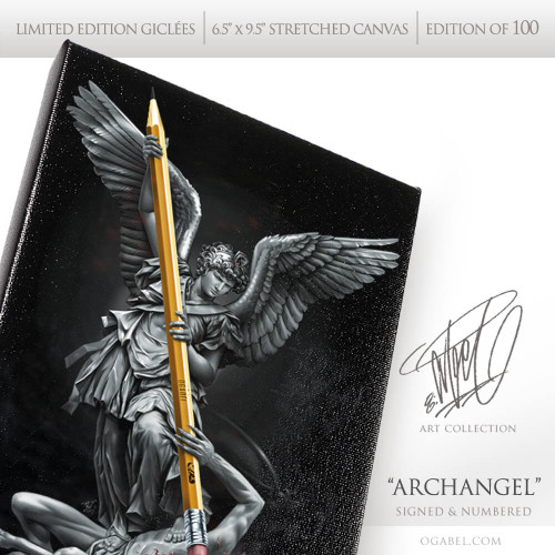 "Archangel 6.5""x 9.5"" Limited Edition Canvas"