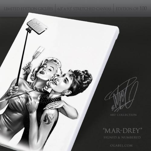 "Mar-Drey 6.5""x 9.5"" Limited Edition Canvas (White)"