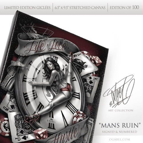 """Man's Ruin 6.5""""x 9.5"""" Limited Edition Canvas"""