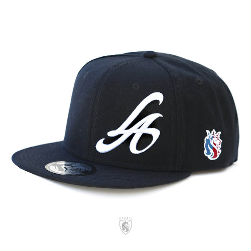 LA 3d embroidery Snapback hat in Black
