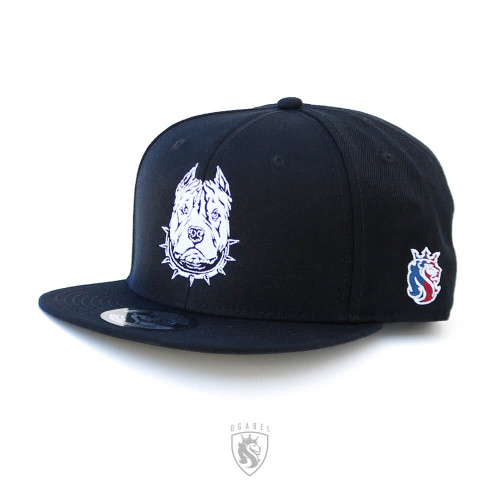 Awesome Pit-bull embroidery on a black snapback hat