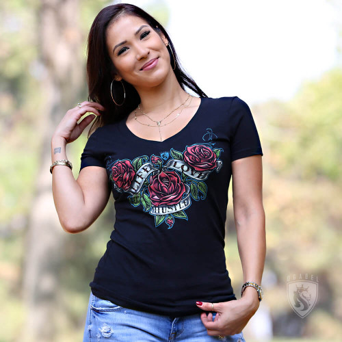 Hustle Rose V-neck