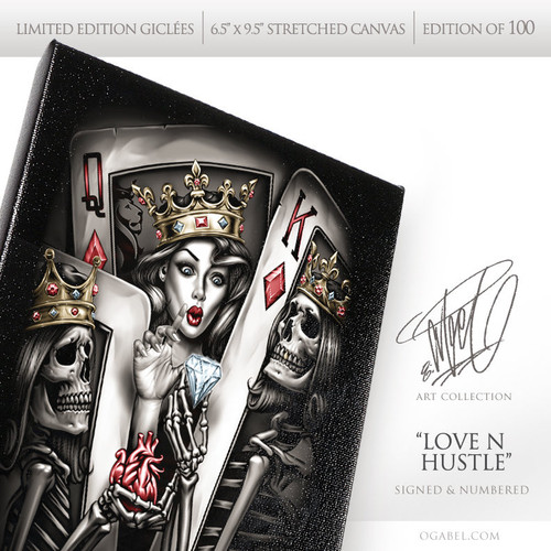 "Love N Hustle 6.5""x 9.5"" Limited Edition Canvas"