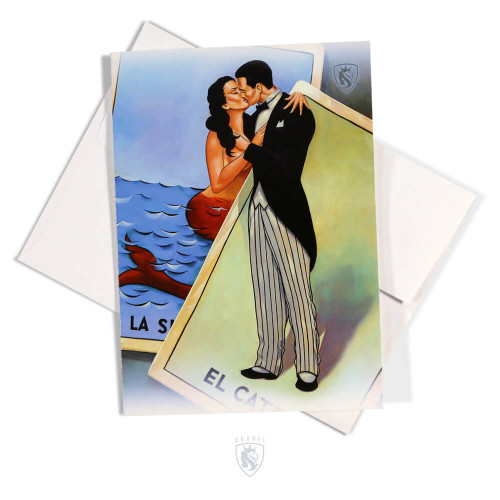 Catrin y Sirena Greeting Card