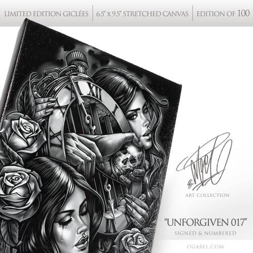 """Unforgiven 017 6.5""""x 9.5"""" Limited Edition Canvas"""