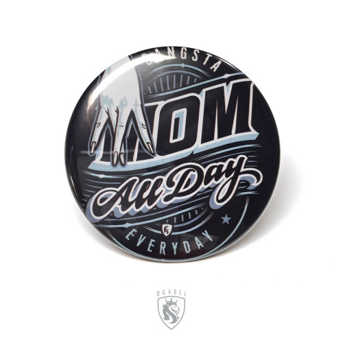 OG Button Mirror - Gangsta Mom
