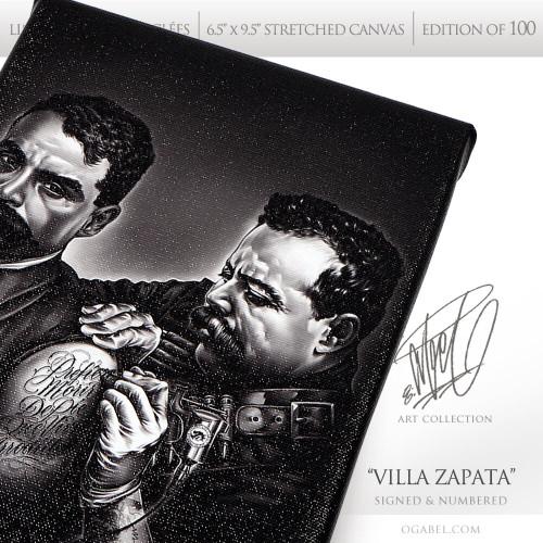"""Villa Zapata 6.5""""x 9.5"""" Limited Edition Canvas"""