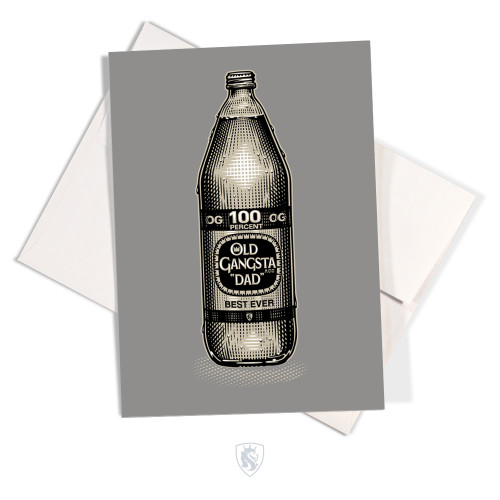 OG DAD 40oz Greeting Card