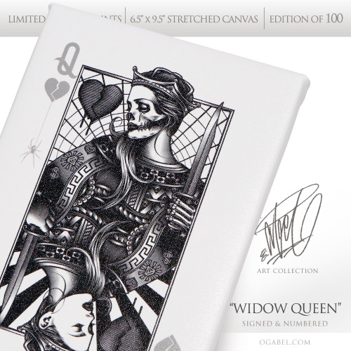 "Widow Queen 6.5""x 9.5"" Limited Edition Canvas"