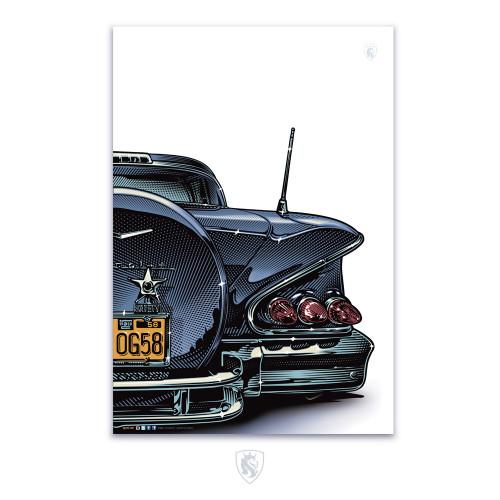"58 Impala Rear 13""X9"" Poster"