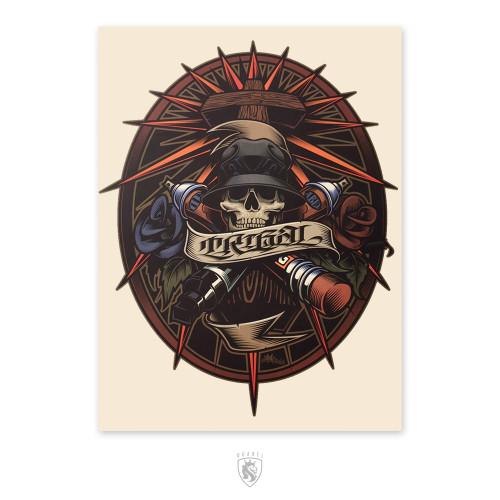 Cross-Skull 18X24 Poster
