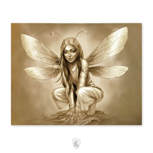Crouching Fairy 18X24 Poster