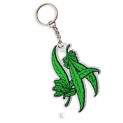 Silicone Rubber Keychain of LA Weed Hands