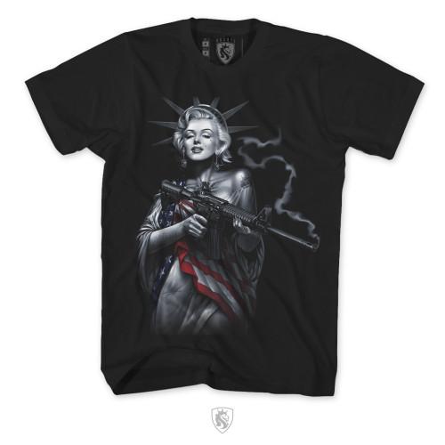 Marilyn Liberty Holding An AR-15
