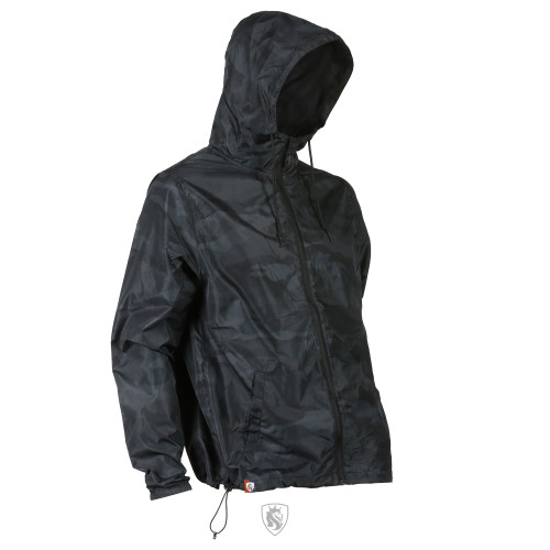 Black Camo Lightweight Windbreaker