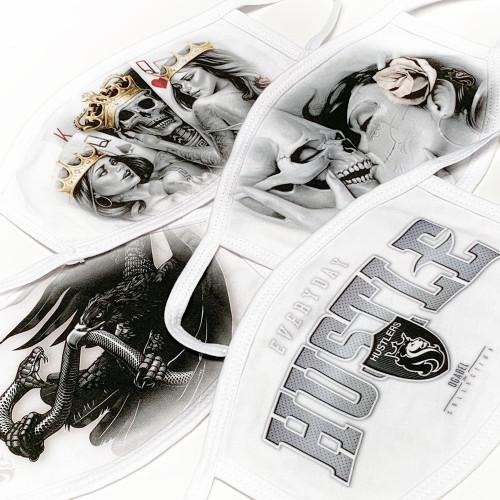 Various Art Design Face-mask In White