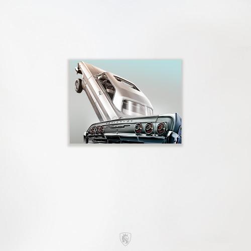 "1964 & 63 Impala 16""X20"" Hand Embellished Canvas Print"