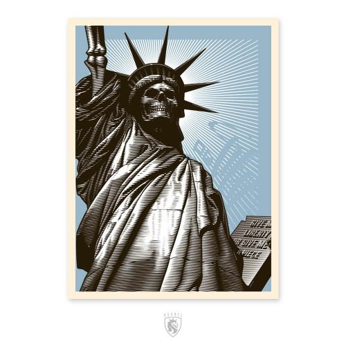 Liberty Skull Print