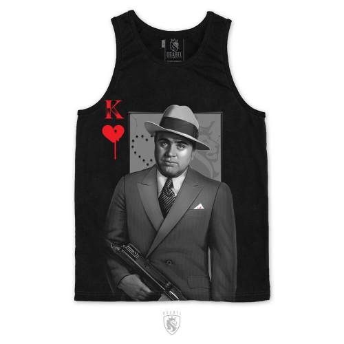 Public enemy No 1 (Al Capone) holding a tommy gun