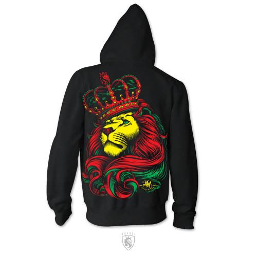 Lion in Rasta Colors wearing a crown