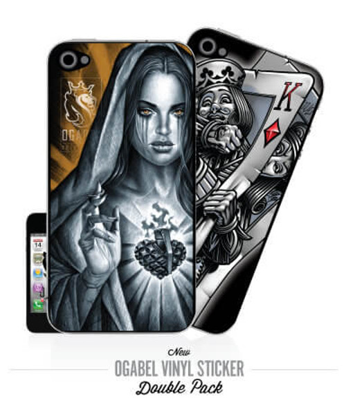 Faith & Battle King iPhone4 Sticker 2Pack