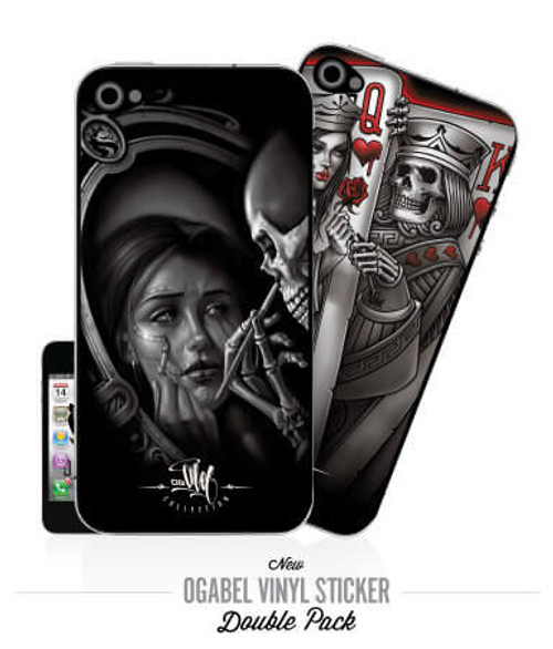 Reflect & King Player iPhone4 Sticker 2Pack