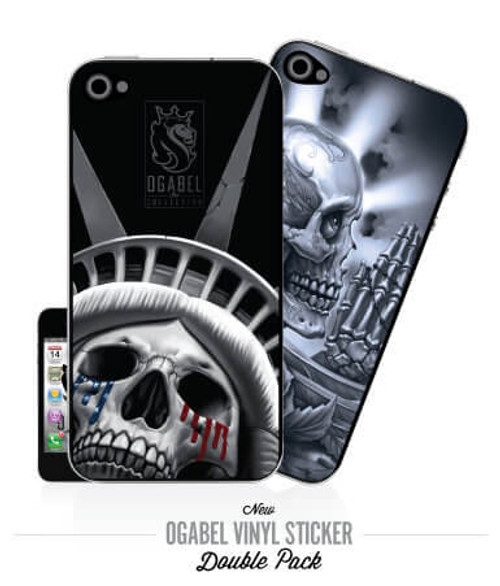Prayskull & LiberTear iPhone4 Sticker 2Pack