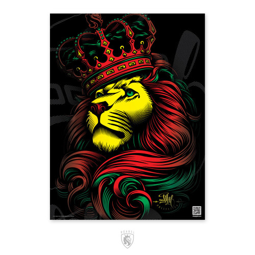 OGABEL Crown Rasta Poster