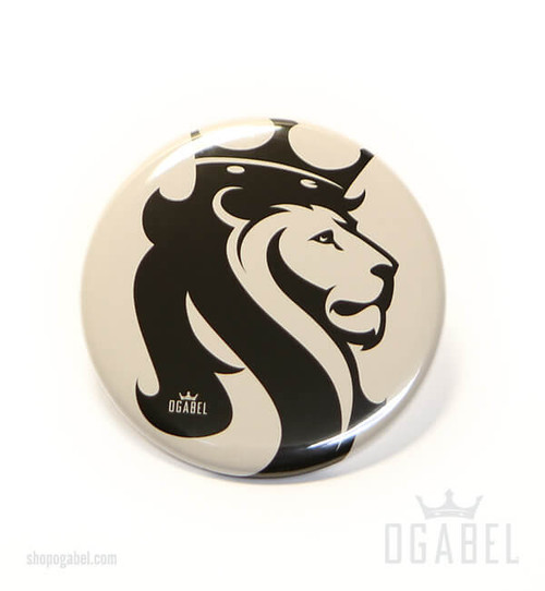 Button with Lion Print