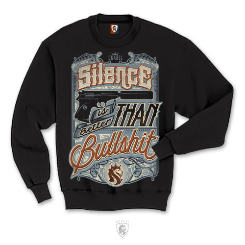 Silence is better than bullshit in custom lettering - by OGABEL