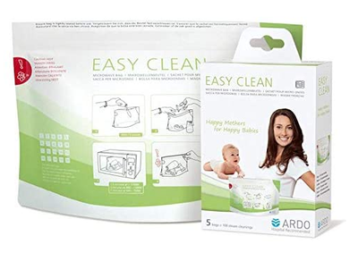With the Easy Clean Microwave Bags you can protect your baby from bacteria and other pathogens without the hassle of boiling or sterilising. Microwave-capable objects such as bottles or accessories for milk pumps can be steam-cleaned quickly and easily at any time.