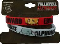 FullMetal Alchemist: Ed & Al PVC Skinny Wristband Set of 2