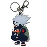 Naruto: Chibi SD Kakashi Reading Make-Out Paradise PVC Keychain