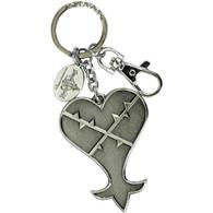 Kingdom Hearts: Heartless Pewter Key Ring Keychain
