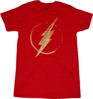 DC Comics The Flash Lightning Bolt Symbol Red T-Shirt