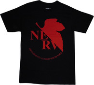 Neon Genesis Evangelion: NERV Logo Men's Black T-Shirt