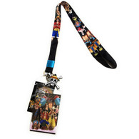 One Piece: Straw Hat Pirates Line-Up Lanyard with ID Holder & Charm
