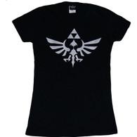 The Legend of Zelda: Triumphant Triforce Junior Black T-Shirt