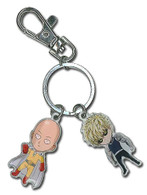 One-Punch Man: SD Saitama & Genos Metal Key Chain
