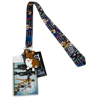Cowboy Bebop Group Lanyard with ID Badge Holder & PVC Ein Dog Charm