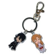Sword Art Online: Chibi SD Kirito & Asuna Metal Key Chain