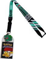 Pokemon Bulbasaur 001 Exclusive Lanyard with ID Badge Holder and Charm