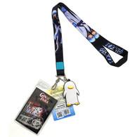 Gintama: Gintoki Lanyard with ID Badge Holder & PVC Elizabeth Charm