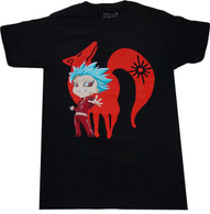The Seven Deadly Sins: Ban Fox Sin of Greed Men's Black T-Shirt